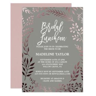 Ouro cor-de-rosa elegante e almoço nupcial convite 12.7 x 17.78cm