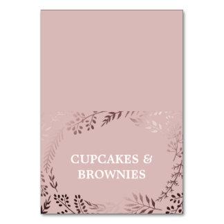 Ouro cor-de-rosa elegante e cartões cor-de-rosa da