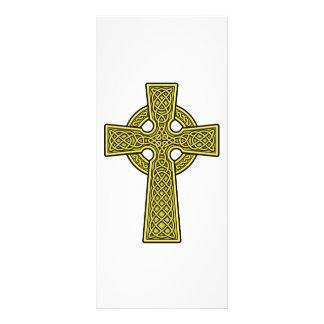 Ouro da cruz celta 10.16 x 22.86cm panfleto