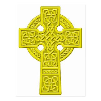 Ouro da cruz celta cartão postal