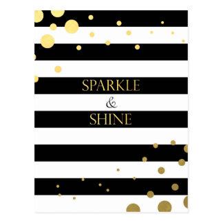 Ouro da faísca & do brilho cartão postal