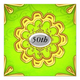 Ouro da festa de aniversário do limão do ouro convites personalizado