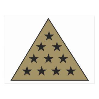 Ouro da pirâmide do Pi do Sigma Cartão Postal