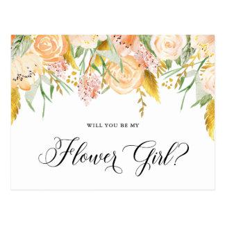Ouro das flores do pêssego você será cartão do