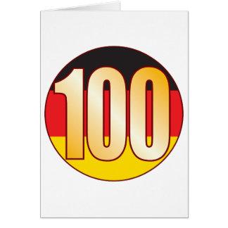 Ouro de 100 ALEMANHA Cartão Comemorativo