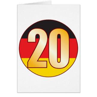 Ouro de 20 ALEMANHA Cartão Comemorativo