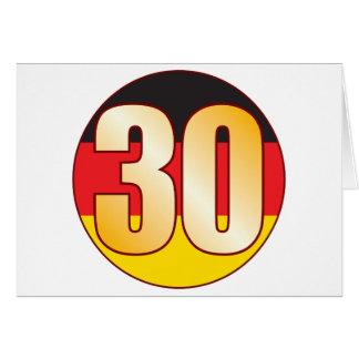Ouro de 30 ALEMANHA Cartão Comemorativo