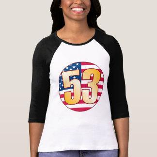 Ouro de 53 EUA Camiseta