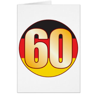 Ouro de 60 ALEMANHA Cartão
