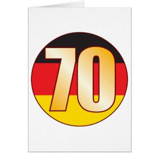 Ouro de 70 ALEMANHA Cartão Comemorativo