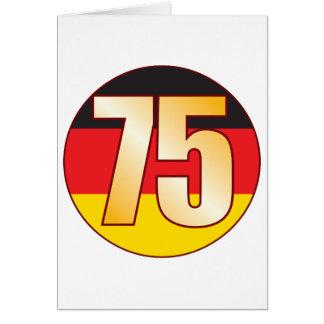Ouro de 75 ALEMANHA Cartão Comemorativo