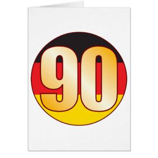 Ouro de 90 ALEMANHA Cartão Comemorativo