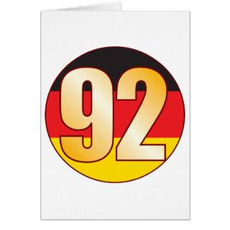 Ouro de 92 ALEMANHA Cartão Comemorativo