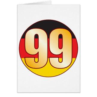 Ouro de 99 ALEMANHA Cartão Comemorativo