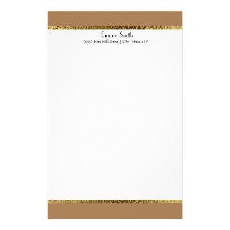 Ouro de Brown e artigos de papelaria