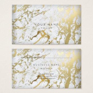 Ouro de mármore branco dourado do cartão da