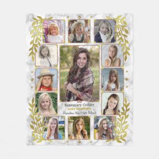 Ouro de mármore da colagem | da foto da conclusão cobertor de lã