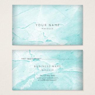 Ouro de mármore do cartão da nomeação de Tiffany