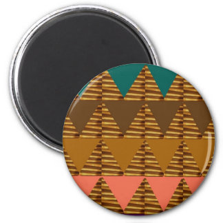 Ouro de NOVINO, Brown, símbolos, presente artístic Ímã Redondo 5.08cm