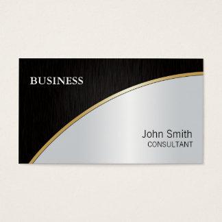 Ouro de prata preto moderno elegante profissional cartão de visitas