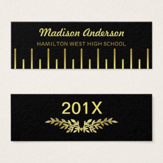 Ouro Deco da inserção do último ano do cartão