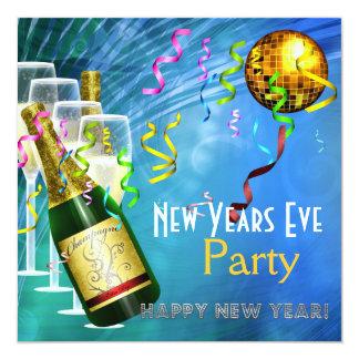Ouro do azul da véspera de ano novo do partido do convite