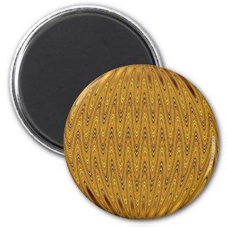 ouro do cirlcle ímã redondo 5.08cm