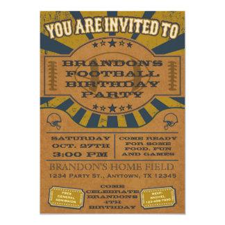 Ouro do convite de aniversário do futebol do