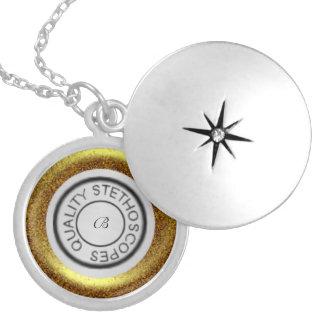 Ouro do estetoscópio da qualidade colar medalhão