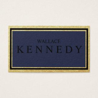 Ouro do falso e azuis marinhos pretos dos cartões