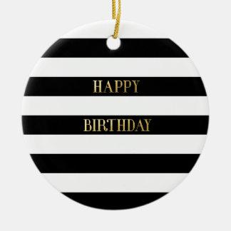 Ouro do feliz aniversario enfeites para arvores de natal