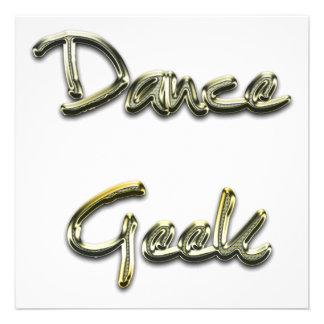 Ouro do geek da dança convites personalizados