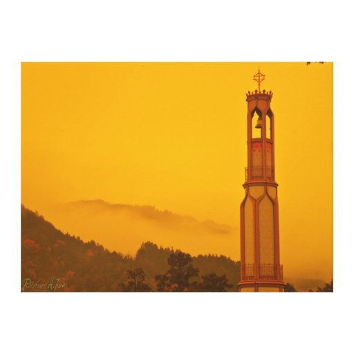 Ouro do outono, Honzan Belltower Impressão De Canvas Esticadas