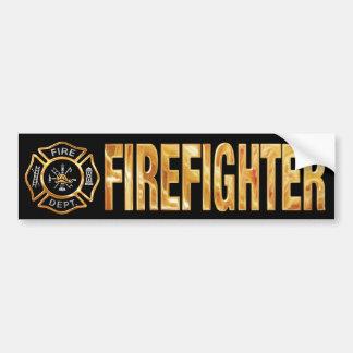 Ouro do sapador-bombeiro adesivo para carro