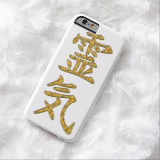 Ouro do símbolo REIKI + seu fundo Capa Barely There Para iPhone 6