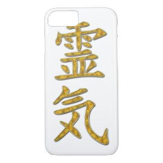 Ouro do símbolo REIKI + seu fundo Capa iPhone 7