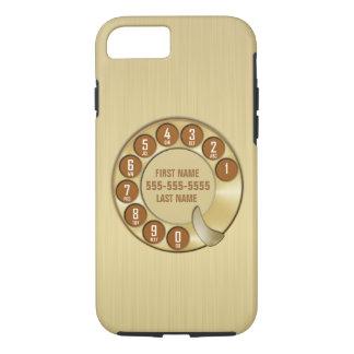 Ouro do telefone de seletor giratório da velha capa iPhone 7