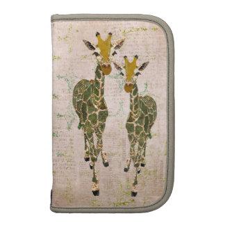 Ouro do vintage & planejador dos girafas do jade agenda
