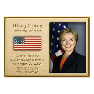 Ouro do VIP com os cartões de visitas da bandeira