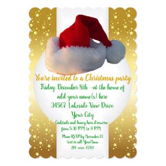 Ouro dos convites da festa de Natal com Papai Noel
