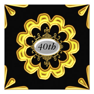 Ouro dos convites de festas de aniversários do our