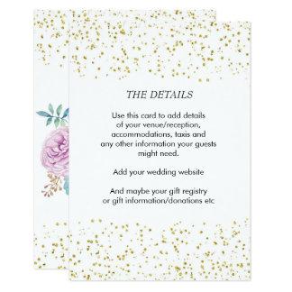 ouro dos succulents do cartão de informação dos convite 8.89 x 12.7cm