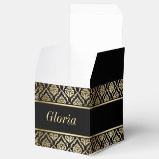 ouro e caixa preta do favor do damasco