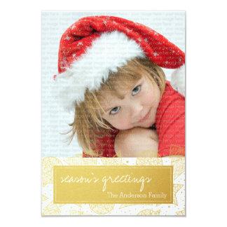 Ouro e cartão com fotos do feriado do White Convite
