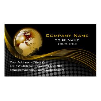 Ouro e cartão de visita preto