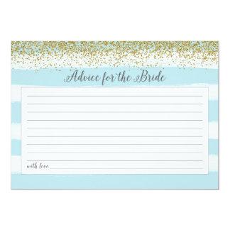 Ouro e conselho azul para o cartão da noiva