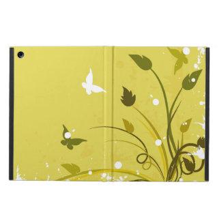 Ouro e Grunge floral branco da borboleta