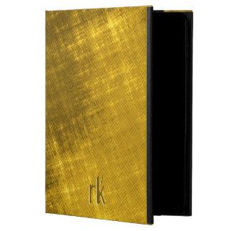 ouro e mistura de lã suja do preto capa para iPad air 2