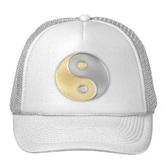 Ouro e prata Yin e Yang Boné