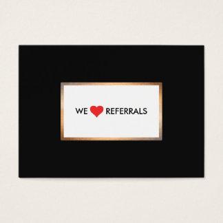 Ouro e referência preta da apreciação do cliente cartão de visitas